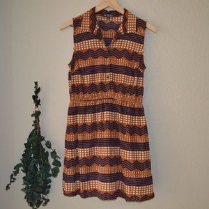 Bebop Hearts and Stripes Sleeveless Dress Sz M